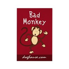 Bad Monkey Rectangle Magnet