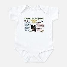 Miniature Pinscher Property Laws 4 Infant Bodysuit