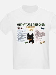 Miniature Pinscher Property Laws 4 T-Shirt