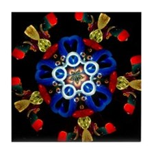 Patriotic Star Kaleidoscope Tile Coaster