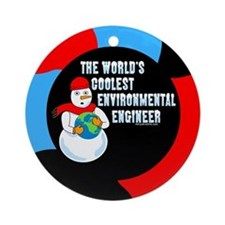 Cool Environmental Engineer Ornament (Round)