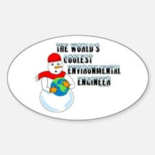 Cool Environmental Engineer Oval Decal