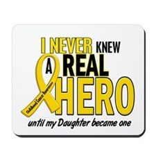 Never Knew A Hero 2 GOLD (Daughter) Mousepad
