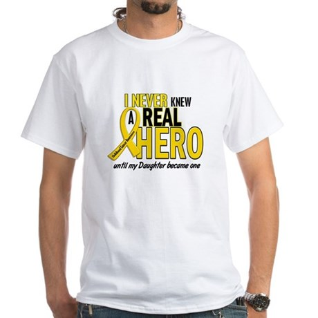 Never Knew A Hero 2 GOLD (Daughter) White T-Shirt