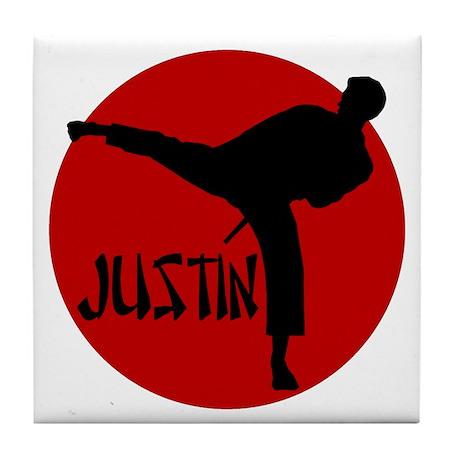 -Justin Karate Tile Coaster