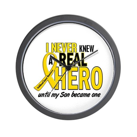 Never Knew A Hero 2 GOLD (Son) Wall Clock