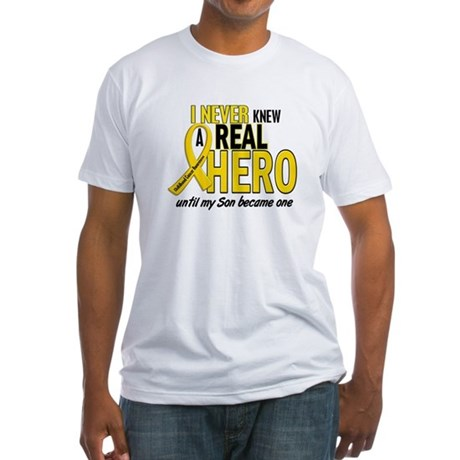 Never Knew A Hero 2 GOLD (Son) Fitted T-Shirt