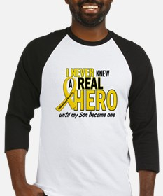 Never Knew A Hero 2 GOLD (Son) Baseball Jersey