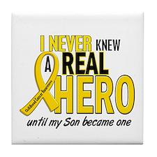 Never Knew A Hero 2 GOLD (Son) Tile Coaster