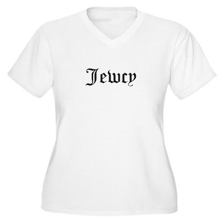 Jewcy Women's Plus Size V-Neck T-Shirt