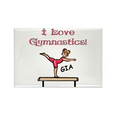 -I Love Gymnastics (Gia) Rectangle Magnet