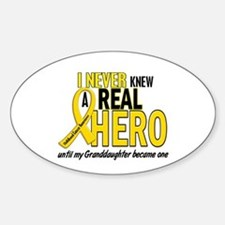 Never Knew A Hero 2 GOLD (Granddaughter) Decal