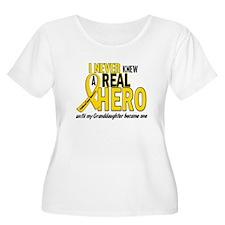 Never Knew A Hero 2 GOLD (Granddaughter) T-Shirt