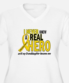 Never Knew A Hero 2 GOLD (Granddaughter) T-Shirt