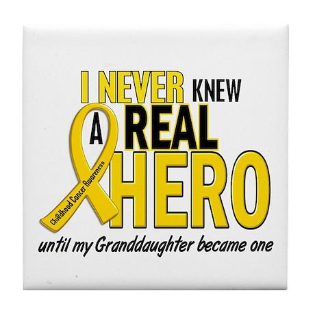 Never Knew A Hero 2 GOLD (Granddaughter) Tile Coas