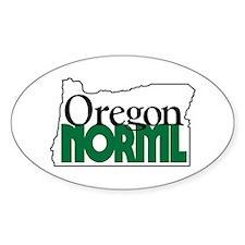 Oregon NORML Logo Oval Bumper Stickers