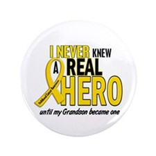 """Never Knew A Hero 2 GOLD (Grandson) 3.5"""" Button"""