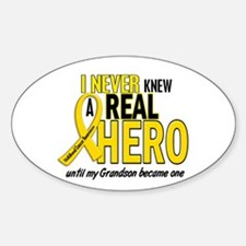Never Knew A Hero 2 GOLD (Grandson) Oval Decal