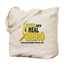 Never Knew A Hero 2 GOLD (Grandson) Tote Bag