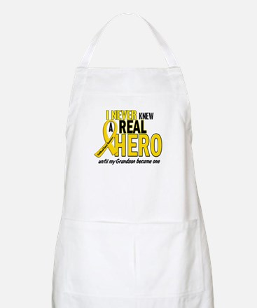 Never Knew A Hero 2 GOLD (Grandson) BBQ Apron