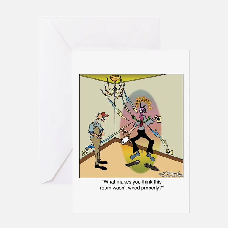 Zapped Inspector Greeting Card