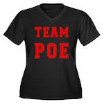 Team Poe Women's Plus Size V-Neck Dark T-Shirt