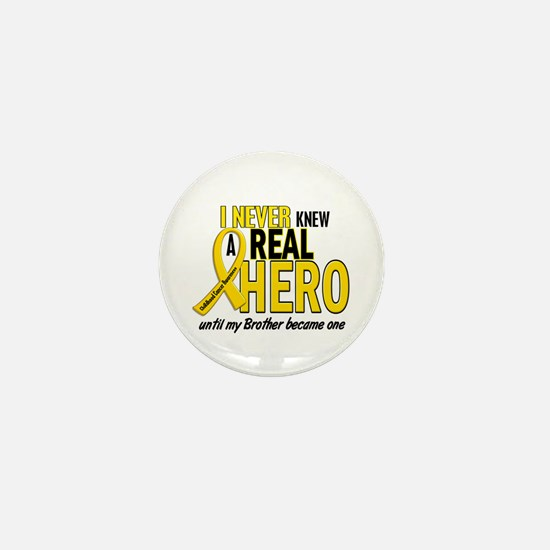 Never Knew A Hero 2 GOLD (Brother) Mini Button