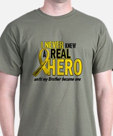 Never Knew A Hero 2 GOLD (Brother) T-Shirt
