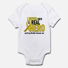 Never Knew A Hero 2 GOLD (Brother) Infant Bodysuit