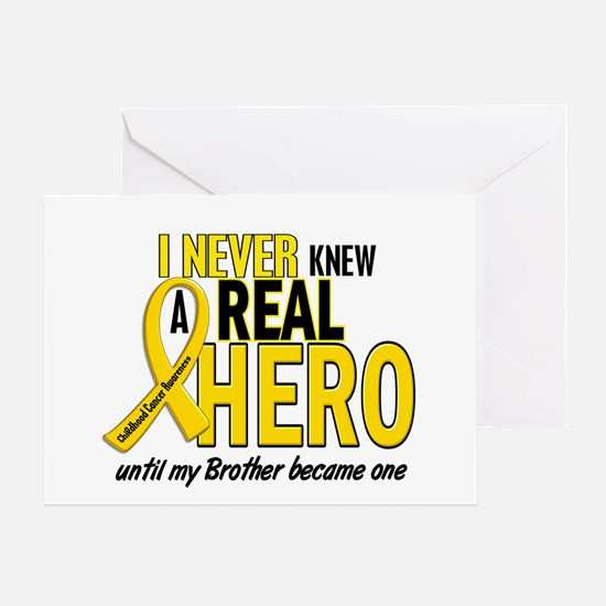 Never Knew A Hero 2 GOLD (Brother) Greeting Card