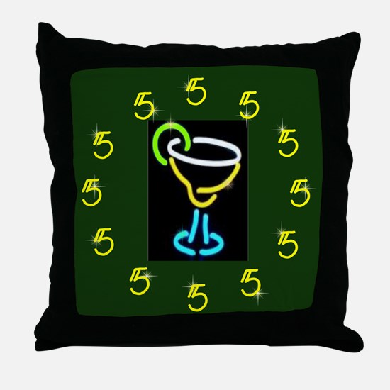 It's Always 5:00 Throw Pillow