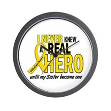 Never Knew A Hero 2 GOLD (Sister) Wall Clock