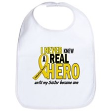Never Knew A Hero 2 GOLD (Sister) Bib