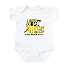 Never Knew A Hero 2 GOLD (Sister) Infant Bodysuit