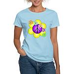 Peace Blossoms /purple Women's Light T-Shirt