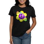 Peace Blossoms /purple Women's Dark T-Shirt