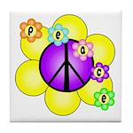 Peace Blossoms /purple Tile Coaster