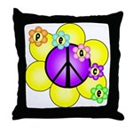 Peace Blossoms /purple Throw Pillow