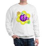 Peace Blossoms /purple Sweatshirt