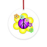 Peace Blossoms /purple Ornament (Round)