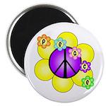 Peace Blossoms /purple Magnet