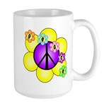 Peace Blossoms /purple Large Mug