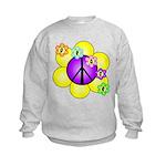 Peace Blossoms /purple Kids Sweatshirt