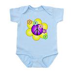Peace Blossoms /purple Infant Bodysuit