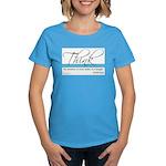 Think Quote - Women's Dark T-Shirt