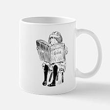 very little girl reading Mug