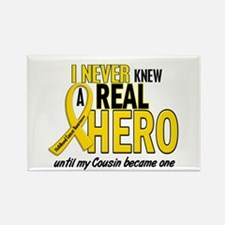 Never Knew A Hero 2 GOLD (Cousin) Rectangle Magnet