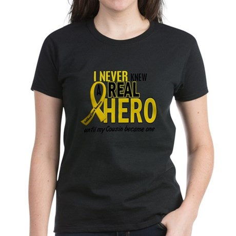 Never Knew A Hero 2 GOLD (Cousin) Women's Dark T-S