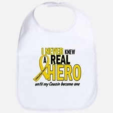 Never Knew A Hero 2 GOLD (Cousin) Bib