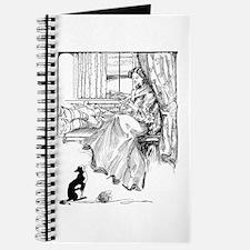 Reading Lady in window Journal